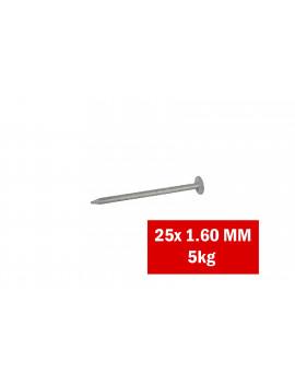 Boîte de clous en acier galvanisé 25x1.60mm / 5kg