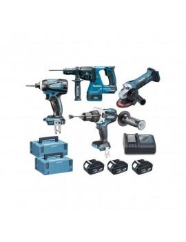 Combo Kit 4 machines 18V / 5Ah - MAKITA