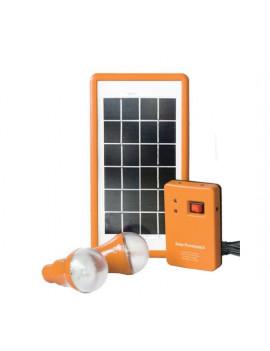 SOLAR LED 3W BULB 2 LAMP 0.9W