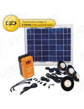 SOLAR LED 10W BULB 2 LAMP 1.2W