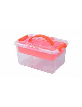 Bac de rangement transparent 6 litres - TACTIX