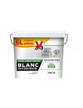 V33 BLANC INT SATINE 6L
