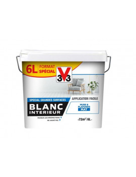 V33 BLANC INT MAT 6L