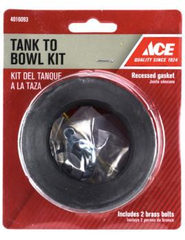 Kit composé d'un joint en caoutchouc et de fixations en laiton pour réservoir de toilette - ACE