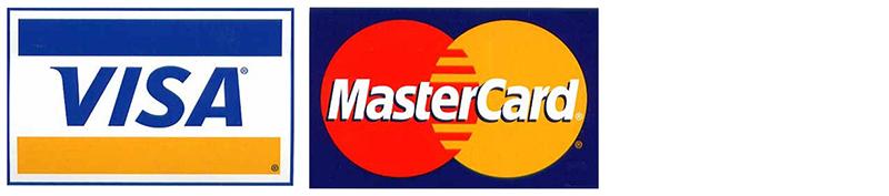 Logos des cartes de crédit que nous acceptons pour payer en ligne.